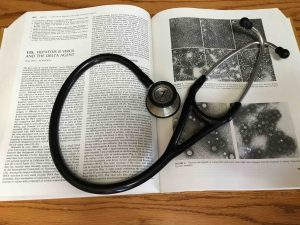 book and stethescope
